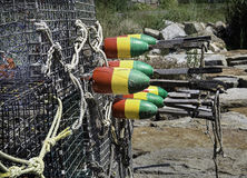 Newly painted lobster buoys Royalty Free Stock Image