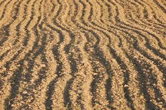 Newly ploughed agricultural field in spring Stock Image