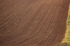 Newly ploughed paddock royalty free stock photography
