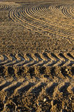 Newly plowed clay soil field Royalty Free Stock Photo