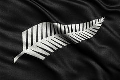 Newly proposed silver fern flag for New Zealand Stock Photography