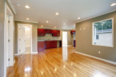 Newly remodeled kitchen and living room. Royalty Free Stock Photos