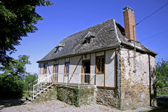 Newly Renovated Old Bard In Correze Stock Photo