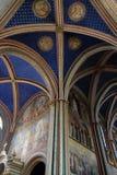 St-Germain des Prés chœur des moines. Newly-restored chœur des moines in Paris` Saint-Germain des Prés church royalty free stock photography