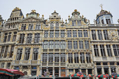 Newly restored facades from the Grand Place in Brussels Royalty Free Stock Photos