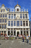 Newly restored facades from the Grand Place in Brussels Royalty Free Stock Image
