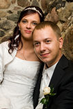 Newly wed caucasian couple Stock Images