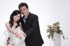 Newly wed couple 1 Stock Photo