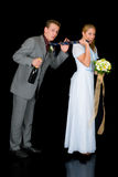 Newly wed couple Stock Photo