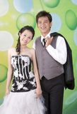 Newly wed couple 12. Newly wed sweet asian couple Stock Images