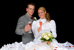 Newly wed couple Royalty Free Stock Image