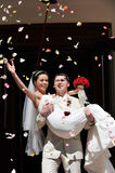 Newly wed couple Stock Photos