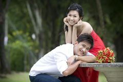 Newly wed couple 6. Newly wed sweet asian couple stock photos