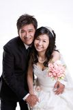 Newly wed couple. Newly wed sweet asian couple Stock Image