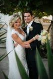 Newly Wedd. A newly wedd couple on a beach royalty free stock image