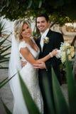 Newly Wedd. A newly wedd couple on a beach royalty free stock images
