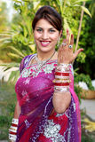 Newly wedded girl. Indian newly wedded girl in happy mood Stock Image