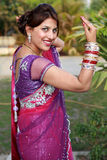 Newly wedded girl. Indian newly wedded girl in happy mood stock photography