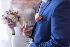 Newly wedded in time of wedding ceremony Stock Images