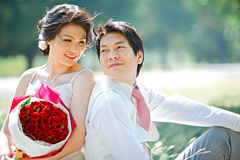 Newly wedding couples Royalty Free Stock Photo