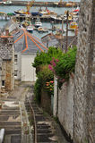 Newlyn village lane. Cornwall, England, UK Royalty Free Stock Images