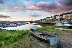 Newlynhaven in Cornwall Stock Foto