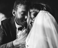 Newlywed African Descent Bride Groom Wedding Celebration Royalty Free Stock Photography