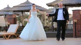 Newlywed Couple stock video