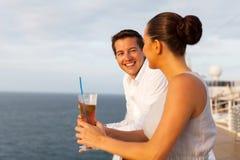 Newlywed couple cruise. Beautiful newlywed couple having fun on cruise Royalty Free Stock Photos