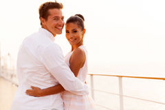 Newlywed couple cruise Stock Photos
