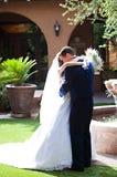 Newlywed Couple Embrace Royalty Free Stock Images