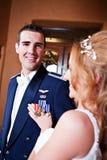 Newlywed Couple Stock Image