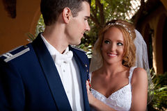 Newlywed Couple Royalty Free Stock Photo