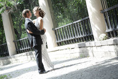 Newlywed couple in love royalty free stock images