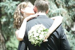 Newlywed couple in love. Newlywed couple happy in love stock photos