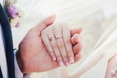 Newlywed hand Stock Photo