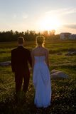 Newlywed Stroll Stock Image