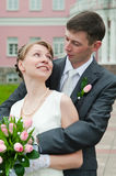 Newlywed young couple Royalty Free Stock Image