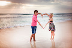 Newlywed young couple Stock Image