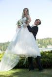 Newlyweds royalty free stock photo