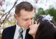 Newlyweds Stock Photo