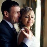 newlyweds stock foto
