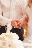 newlyweds stock afbeelding