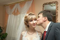 newlyweds royalty-vrije stock afbeelding