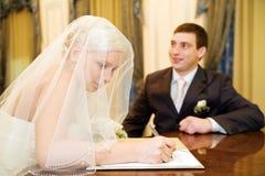 Newlyweds Stock Photo