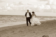 newlyweds Fotografie Stock