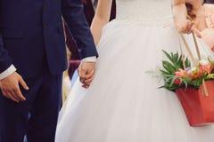 Newlyweds at ceremony Stock Photo
