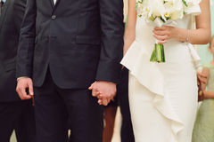 Newlyweds at Ceremony Royalty Free Stock Photography