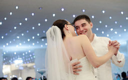 Newlyweds dancing royalty free stock photos