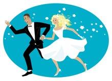 Newlyweds felici Fotografia Stock Libera da Diritti